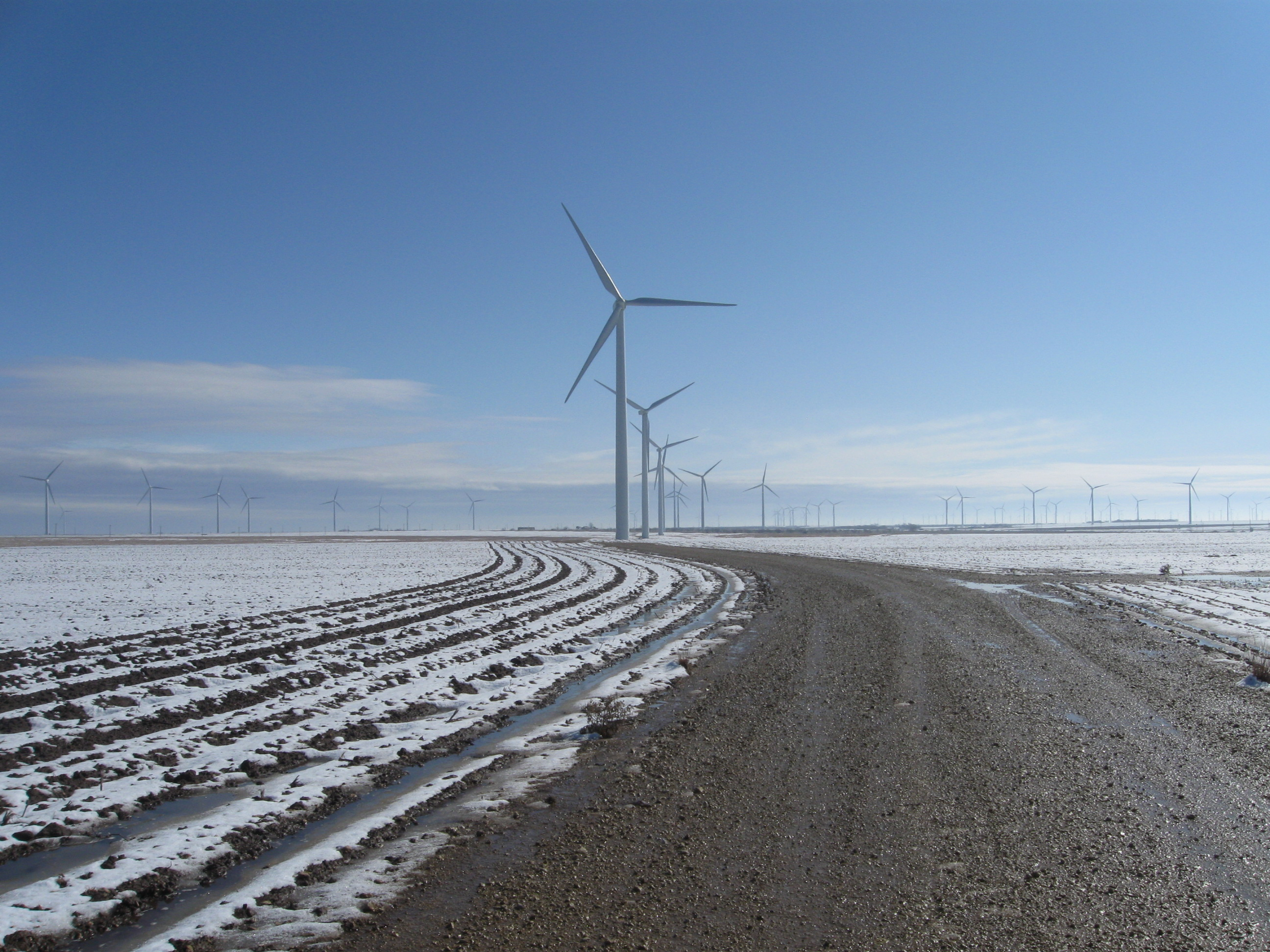 Sustainability Projects | Large Rural Texas Wind Farm